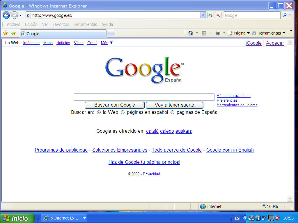 Google Chrome y Google Desktop