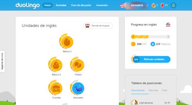 Duolingo  Inicio