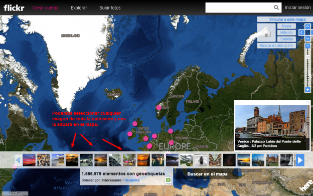 Flickr  Explorar las fotos de todos en un mapa